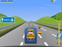 Autobahn Fahrt im Bus